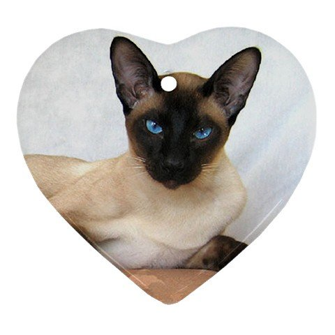 Siamese Cat Pet Lover Ornament Heart  12203169