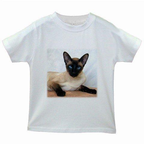 Siamese Cat Pet Lover Kids White T-Shirt 12203191