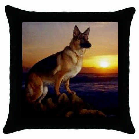 "New Dog German Sheperd at Sunset 18"" Toss or Throw Pillow Case 14172960"