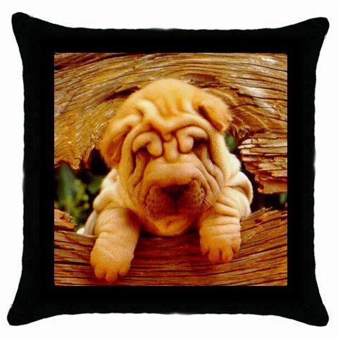 "New Dog Chinese Shar Pei Puppy 18"" Toss or Throw Pillow Case 14172877"