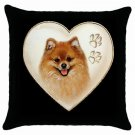 "New Dog Pomeranian 18"" Toss or Throw Pillow Case Pillowcase 14298313"