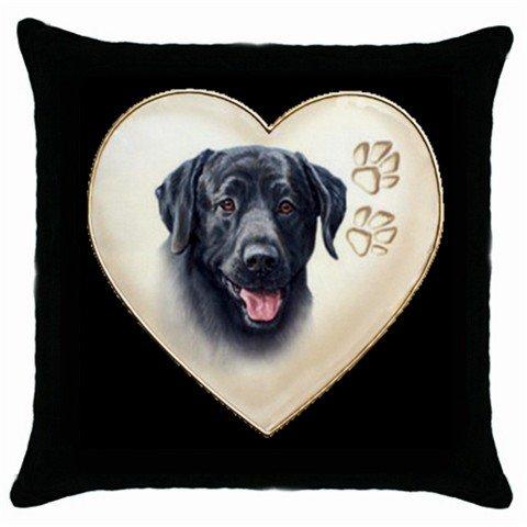 "New Black Lab Dog 18"" Pillow Case Pillowcase Toss or Throw 14298320"