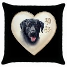 "New Black Lab Dog 18"" Pillow Case Pillowcase Toss or Throw 14298320"
