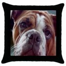 "English Bulldog Dog 18"" Pillow Case Pillowcase Toss or Throw 14326072"