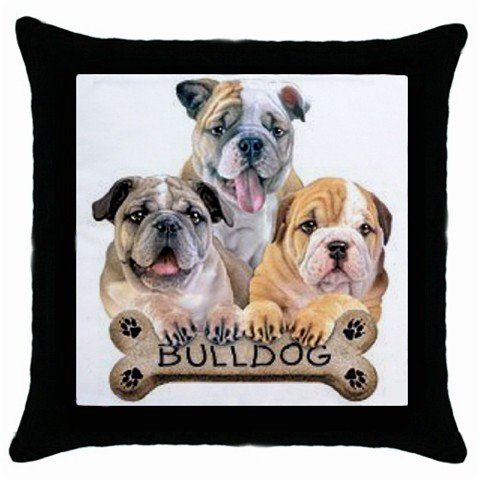 "Dog English Bulldog  18"" Pillow Case Pillowcase Toss or Throw 15833028"