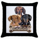 "Dog Dachshund 18"" Pillowcase Pillow Case Toss or Throw  15833023"