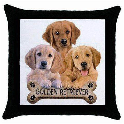 "Dog Golden Retriever 18"" Toss or Throw Pillow Case Pillowcase 15833019"