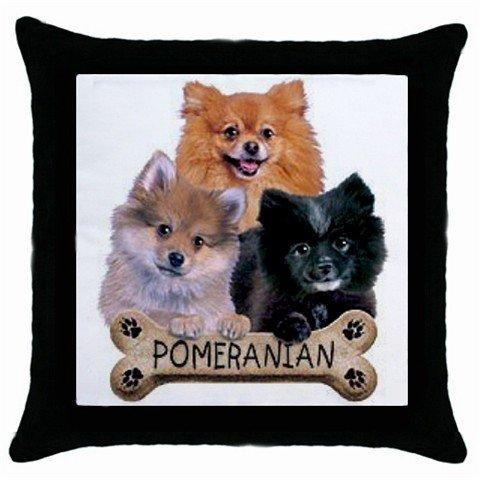"Dog Pomeranian 18"" Toss or Throw Pillow Case Pillowcase 15833073"