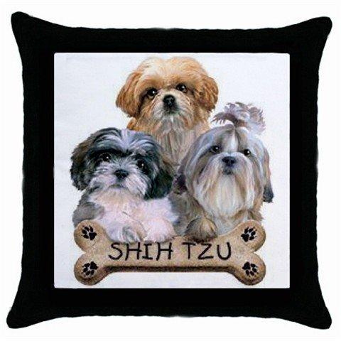 "Shih Tzu Dog Pillow Case Pillowcase 18"" Toss or Throw 15833022"