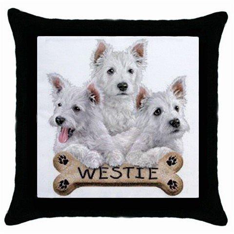 "Westies Dog Pillow Case Pillowcase 18"" Toss or Throw 15833026"