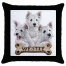"Westies Dog Pillow Case Pillowcase 18"" Toss or Throw 15833026"