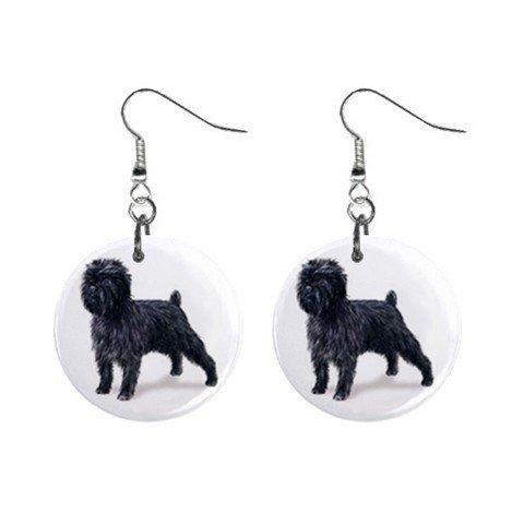 Affenpinscher Affen Pinscher Dog Pet Lover Jewelry Button Earrings 13018513