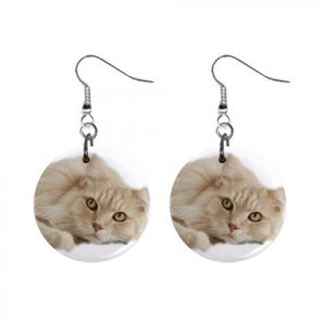 Maine Coon Cat Pet Lover Jewelry Button Earrings 12203234