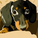 "Poster of YOUR PET Hand Drawn Digital Artwork Dog Cat 8.5x11"""