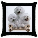 "Bichon Frise  Dog Pillow Case Pillowcase 18"" Toss or Throw 15833024"