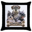 "Schnauzer Dog Pillow Case Pillowcase 18"" Toss or Throw 15833018"