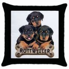 "Rottweiler Dog Pillow Case Pillowcase 18"" Toss or Throw 15833020"