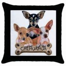 "Chihuahua Dog Pillow Case Pillowcase 18"" Toss or Throw 15833025"