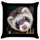 "Ferret Pillow Case Pillowcase 18"" Toss or Throw 17473603"