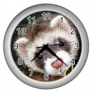 Ferret Pet Lover Wall Clock Silver 17473604