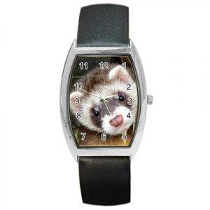 Ferret Pet Lover Barrel Style Metal Watch Unisex 17473624