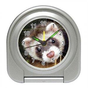 Ferret Pet Lover Travel Alarm Clock 17473626