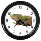 Iguana Lizard Reptile Pet Lover Black Wall Clock 12239849
