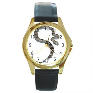 Boa Pet Lover Round Gold Metal Watch Unisex  12240335