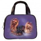 Black Designer 100% Leather Pet Yorkie Dog Handbag Purse #19334244