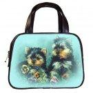 Black Designer 100% Leather Puppies Puppy Handbag Purse #19334245