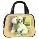 Brown Designer 100% Leather POODLE Dog Handbag Purse #19334247