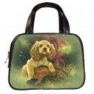 Black Designer 100% Leather Spaniel pet dog Handbag Purse #19334325