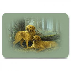GOLDEN LAB RETRIEVER Dog design large BATH MAT OR DOORMAT indoor outdoor  20927394