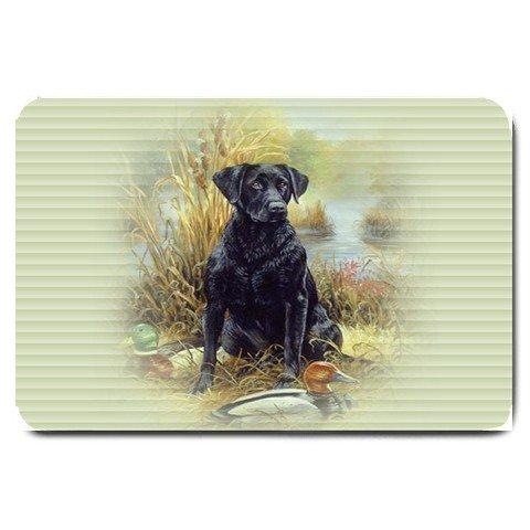 BLACK LAB LABRADOR Dog design large BATHMAT OR  DOORMAT indoor outdoor  20927672