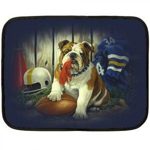 Bulldog Football Polar Fleece Lap Blanket -20934859