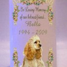 Custom PET MEMORY PHOTO Butterfly frame 6 inch Pillar Candle Memorial