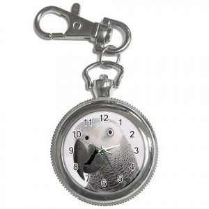AFRICAN GREY Bird Pet Lover Key Chain Watch keychain 17476845