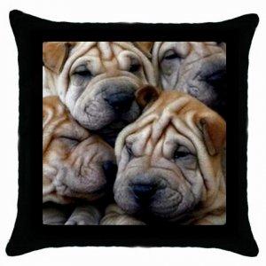 "SHAR PEI Dog Pillow Case Pillowcase 18"" Toss or Throw 14172861 PAEC"