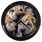 CHINESE SHAR PEI Dog Pet Lover Wall Clock Black 14172862 PAEC