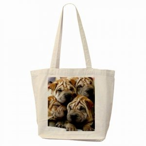CHINESE SHAR PEI Dog Pet Lover Tote Bag 14172864 PAEC