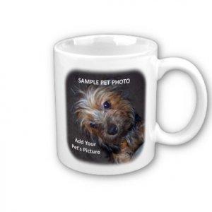CUSTOM PET PHOTO Coffee Mug Cup #CT-PAEC