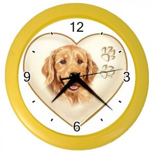 GOLDEN YELLOW RETRIEVER Dog Pet Lover Wall Clock Yellow 26588095 PAEC