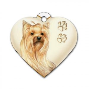 Heart Shape YORKIE YORKSHIRE TERRIER Dog Tag or Necklace Jewelry or Pet Collar Tag 26588161 PAEC