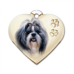 Heart Shape SHIH TZU Dog Tag or Necklace Jewelry or Pet Collar Tag 26588187 PAEC