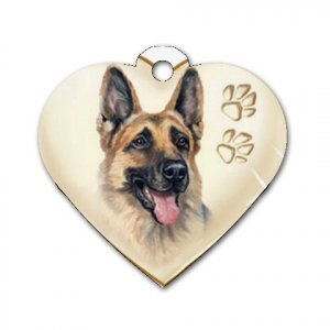 Heart Shape GERMAN SHEPHERD Dog Tag or Necklace Jewelry or Pet Collar Tag 26588206 PAEC
