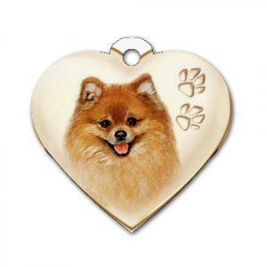 Heart Shape POMERANIAN Dog Tag or Necklace Jewelry or Pet Collar Tag 26588433 PAEC