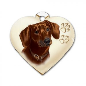 Heart Shape DACHSHUND Dog Tag or Necklace Jewelry or Pet Collar Tag 26588438 PAEC