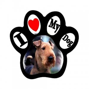 Airedale Terrier Dog Pet Lover Paw Print Magnet 27018393 PAEC