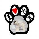 BICHON FRISE Dog Pet Lover Paw Print Magnet 27018381 PAEC