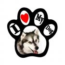 MALMUTE HUSKY Dog Pet Lover Paw Print Magnet 27018380 PAEC